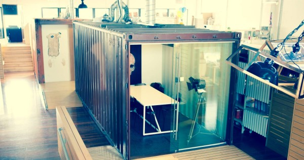 A Music Room Made From Shipping Containers
