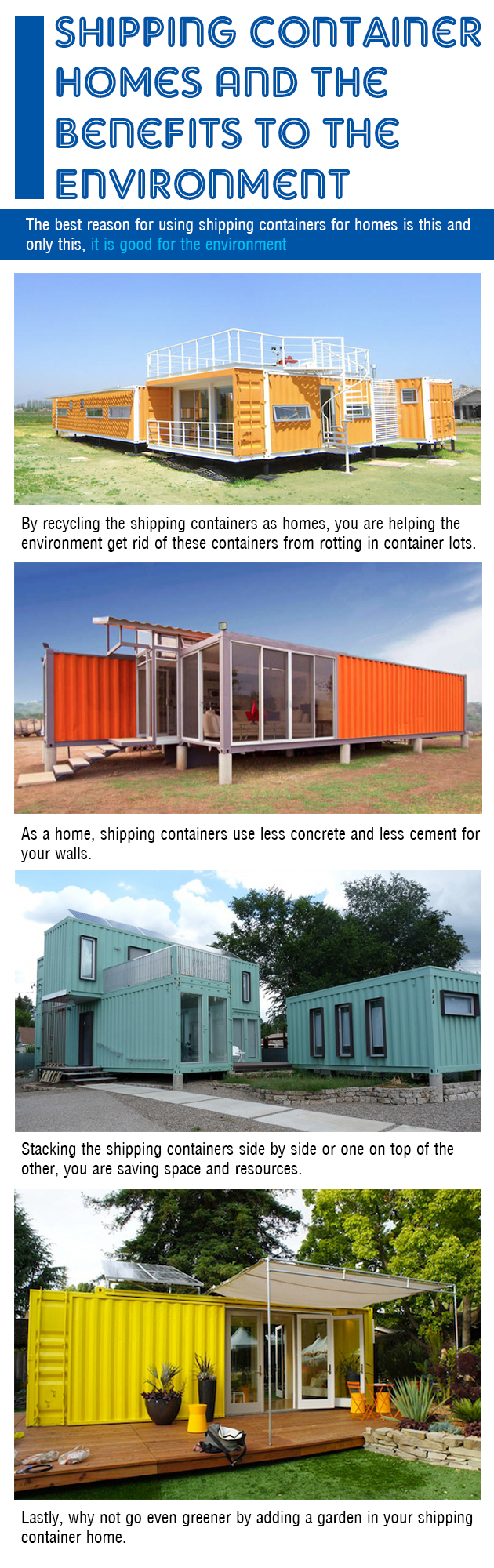 Shipping Container Homes Benefits to Environment
